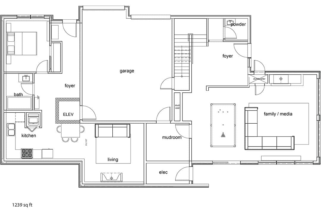 Tm Builders Whistler Lake Front Lodge Lower floor plan