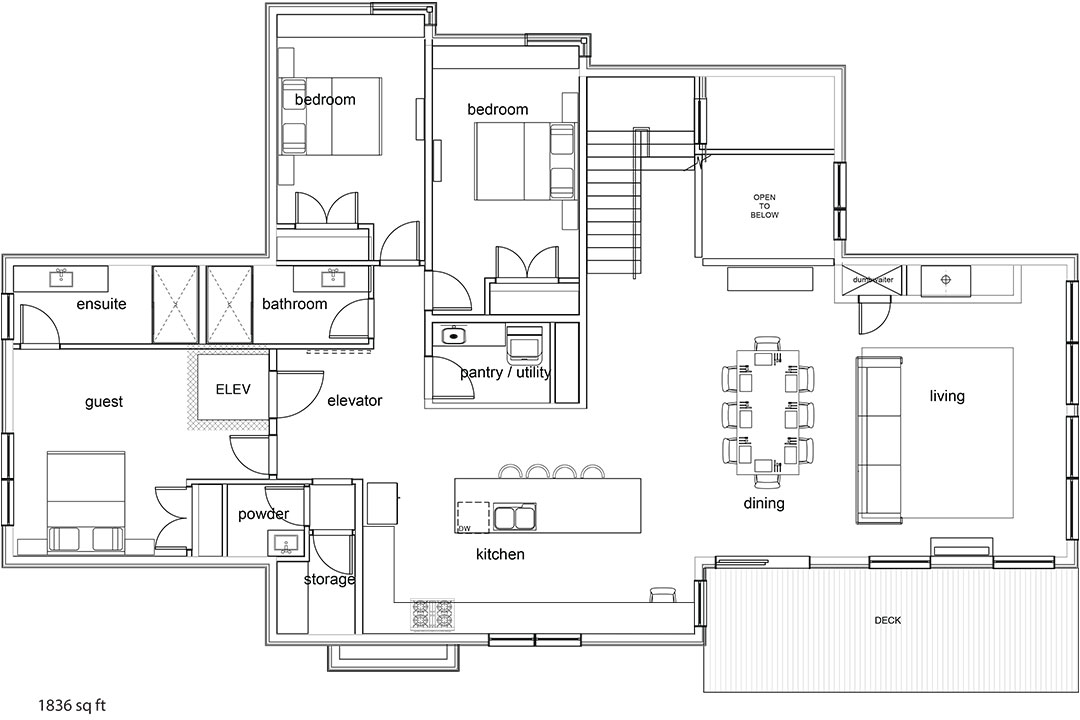 Tm Builders Whistler Lake Front Lodge Main floor plan