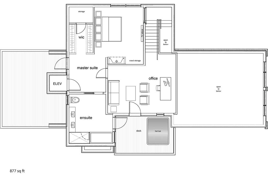 Tm Builders Whistler Lake Front Lodge Top floor plan